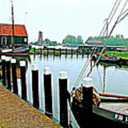 Fishing Village Marina In Zuiderzee Open Air Musuem In Enkhuizen-netherlands Poster