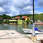 Fishing Village Puerto Rico Poster