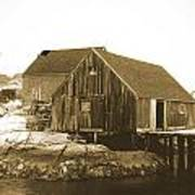 Fishing Wharf At Peggy's Cove Poster by Gordon  Grimwade