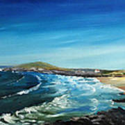Fistral Bay Cornwall Poster