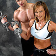 Fitness Couple 17-2 Poster