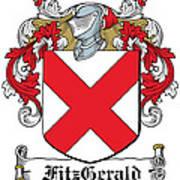 Fitzgerald Coat Of Arms Irish Poster