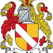 Fitznicol Coat Of Arms Irish Poster