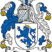 Fitzrery Coat Of Arms Irish Poster