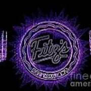 Fitz's In Purple Neon Poster