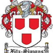 Fitzsimons Coat Of Arms Irish Poster