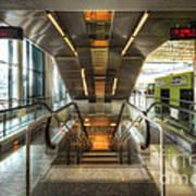 Fiumicino Airport Escalator Poster