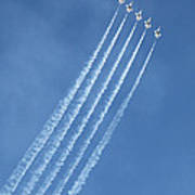 Five F-16 Fighting Falcons Reaching For Some Sky Poster