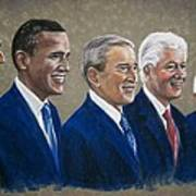 Five Living Presidents 2009 Poster by Martha Suhocke
