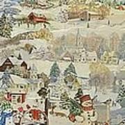 Five Snowmen - SOLD Poster