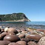 five steps to paradise - Giant pebbles is Menorca north shore close to Cala Pilar beach Poster