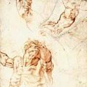 Five Studies For The Figure Of Haman Poster