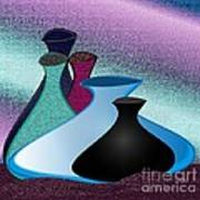 Five Vases Poster