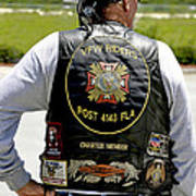 Fla Post 4143 Vfw Rider Color Usa Poster
