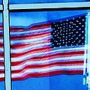 Flag Abstract Reflection Poster