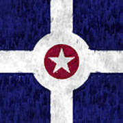 Flag Of Indianapolis Poster