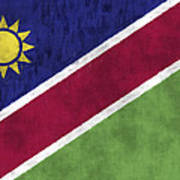 Flag Of Namibia Poster
