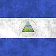 Flag Of Nicaragua Poster
