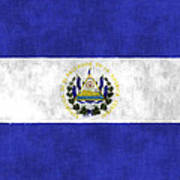 Flag Of Salvador Poster