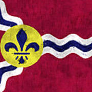 Flag Of St.louis Poster
