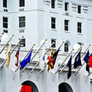 Flags At The Greenbrier Poster