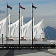 Flags At The Sails  Poster