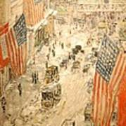 Flags On 57th Street Poster
