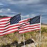 Flags On Antelope Island Poster