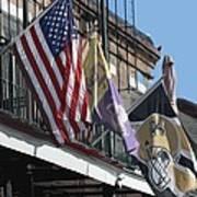 Flags On Bourbon Street Poster