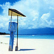 Flamenco Beach And Storm Poster