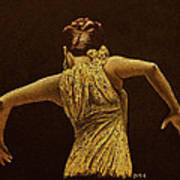 Flamenco Dancer In Yellow Dress Poster by Martin Howard