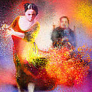 Flamencoscape 11 Poster