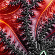 Flames - A Fractal Abstract Poster