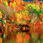 Flaming Autumn Abstract Poster