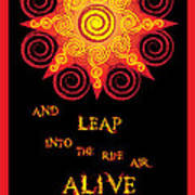 Flaming Celtic Sun Poster