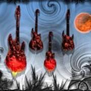 Flaming Guitars Poster