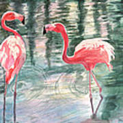 Flamingo Time Poster