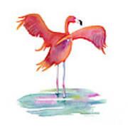 Flamingo Wings Poster