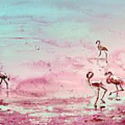 Flamingos In Camargue 03 Poster