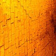 Flamming Brick Wall Poster