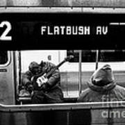 Blues Guitarist Heading To Flatbush  Poster