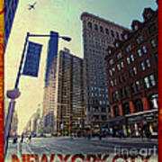 Flat Iron Building Poster Poster by Nishanth Gopinathan