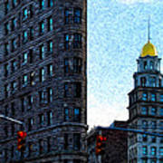 Flat Iron Nyc Poster by Sabine Jacobs
