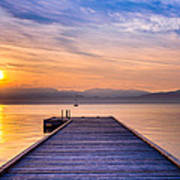Flathead Lake Sunrise Poster