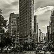 Flatiron Building - Black And White Poster