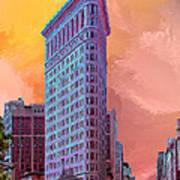 Flatiron Building At Sunset Poster