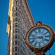 Flatiron Clock Poster