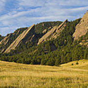 Flatiron Morning Light Boulder Colorado Poster