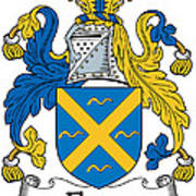 Fleury Coat Of Arms Irish Poster