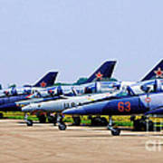 Flight Line At The E.a.a. Poster